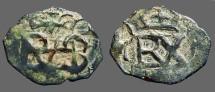 Ancient Coins - Philip III AE17 Crowned Monogram / Crowned Monogram