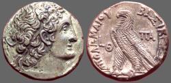 Ancient Coins - Ptolemy X AR24 Tetradrachm. Alexandria.