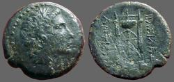 Ancient Coins - Seleukid  Antiochos I Soter. AE26  Apollo / Tripod Lebes