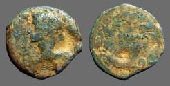 Ancient Coins - Augustus AE23 'as'  Spain. JVLIA TRAD.