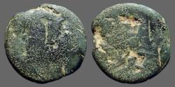 Ancient Coins - Roman Republic AE31 as  Janus / Galley prow.