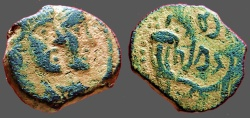 Ancient Coins - Rabbell II & Gamilat AE16, jugate busts / Crossed Cornucopias. Petra.