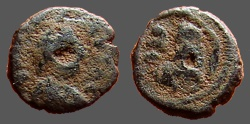 Ancient Coins - Justin I AE pentanummium, Tyche on Antioch seated in shrine   Antioch.