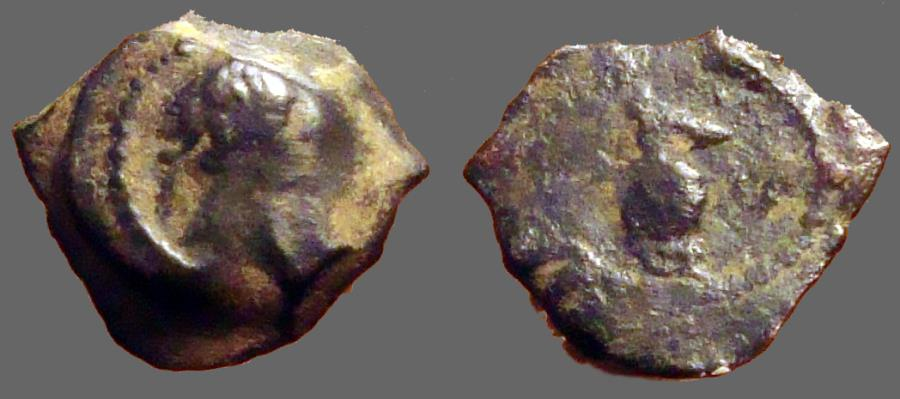 Ancient Coins - Egypt, Alexandria. Trajan.  Æ15 Dichalkon  year 17