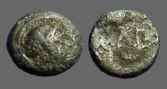 Ancient Coins - Aeolis, Neonteichos, 2nd century BC. AE 9mm