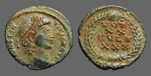 Ancient Coins - Constantius II AE3 Vows in wreath. VOT/XX/MVLT/XXX.