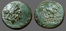 Ancient Coins - Amisos, Pontos. AE20 Zeus / Eagle on thunderbolt