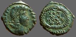 Ancient Coins - Constans AE3 Vows in wreath VOT XV MVLT XX