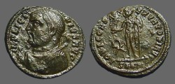 Ancient Coins - Licinius I AE3 bust left w. mappa & sceptre / Jupiter w. Victory.