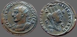 Ancient Coins - Philip I AE30 Antioch, Syria.  turreted & veiled Tyche