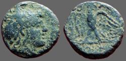 Ancient Coins - Macedon  AE19 Perseus / Eagle on thunderbolt