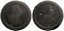 World Coins - England, King George III AE35 Cartwheel Penny 1797