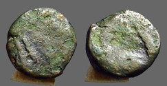 Ancient Coins - Leo I AE4 (10mm) nummus / lion reverse. Constantinople.