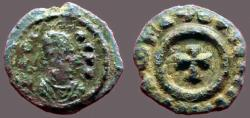 Ancient Coins - Axum AE13 Anonymous. King / Cross