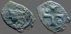 World Coins - Sicily billon denaro, James I Gia Como.  Messina   1285-1296 AD.