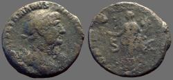Ancient Coins - Hadrian AE25 as.  Fortuna w. patera & cornucopia