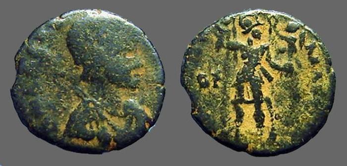 Ancient Coins - Honorius AE3 VRBS ROMA FELIX S#4257.  Antioch, Turkey