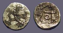Ancient Coins - Phoencia, Sidon, AE9 Galley / King & Lion in combat