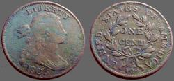 Us Coins - United States 1803 Draped Bust 28mm Large Cent 1C