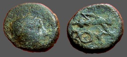 Ancient Coins - Bubon, Lycia. Draped bust of Artemis rt, quiver over shoulder. BOY. bow and quiver.