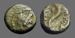 Ancient Coins - Ptolemais-Ake AE12 Dioscuri Cornucopia