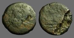 Ancient Coins - Republic AE30 as  Janus Head / Galley Prow