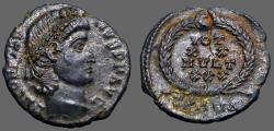 Ancient Coins - Constantius II AE4 Vows in wreath. VOT/XX/MVLT/XXX