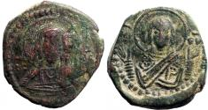 Ancient Coins - Anonymous AE26 Follis.  Class G attributed to  Romanus IV
