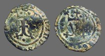 Ancient Coins - Fernando V & Isabella, 18mm billon Blanca. 1474-1504 AD.