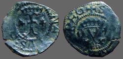 World Coins - Spain.  Fernando V & Isabella, 18mm billon Blanca.