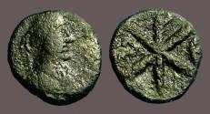 Ancient Coins - Justin I AE pentanummium SB#77 Chi-Rho Constantinople