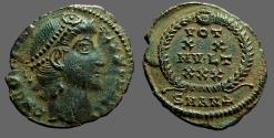 Ancient Coins - Constantius II AE3 Vows in wreath. VOT/XX/MVLT/XXX.  Antioch, Turkey