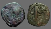 Ancient Coins - Justin I AE29 Follis, Constantinople SB#62
