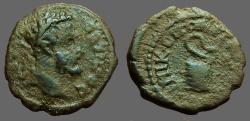 Ancient Coins - Septimius Severus AE17 Nikopolis ad Istrum.  Serpent arising from basket