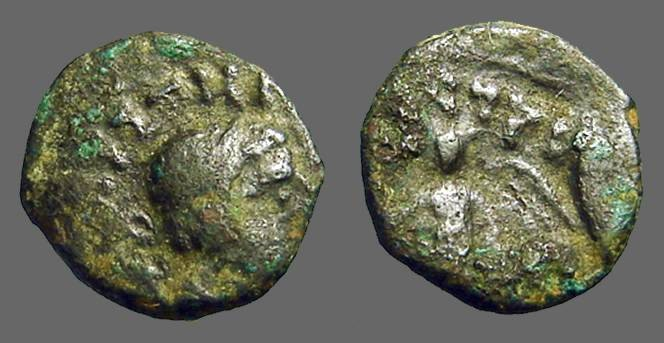 Ancient Coins - Interesting AE16 Bust rt / Victory left.