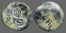 Ancient Coins - Philip II AE20 (2) Maravedis. Castle / Rampant Lion. 3 nice countermarks