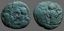 Alexius I follis, Bust of Christ facing / 3/4 length figure of Virgin Orans
