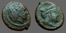 Ancient Coins - Sicily, Hiimera.  Thermai Himerensis AE15