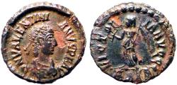 Ancient Coins - Valentinian II AE14 Victory advancing