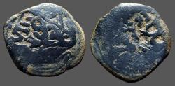 World Coins - Philip IV AE22 8 Maravedis.  Castille & Leon.   1641-1665 AD.  Restruck