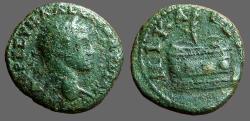 Ancient Coins - Severus Alexander AE20 Nicaea.  Prize basket w. palm branch.