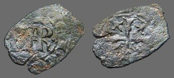 World Coins - Sicily billon denaro, Charles I of Anjou