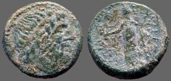 Ancient Coins - Sicily, Syracuse. Roman period AE22.  Isis w. wreath & staff