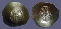 Ancient Coins - Billon Aspron Trachy, Constantinople mint.