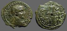 Ancient Coins - Gordian III AE23Deultum, Thrace.  Apollo adv. w. bow & arrow