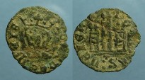 "Ancient Coins - Castilia and Leon, Alfonso XI. ""el Justiciero"", billon denaro"