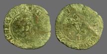 Ancient Coins - Fernando V & Isabella, 20mm billon Blanca. 1474-1504 AD.