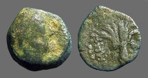 Ancient Coins - Antiochus IV AE16, Tyre, Bust rt. / Palm Tree