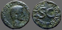 Ancient Coins - Augustus AE26 as.  moneyer C. Plotius Rufus