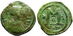 Ancient Coins - Justin I AE31 Follis.  Nikomedia.